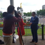 Filming for the Centenary of The House of Windsor on NTV. 12 July 2017