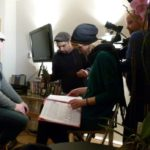 Filming for a mini-documentary about him and the British Monarchist Society for ARTE, Yourope