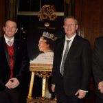 Thomas with Dame Mervyn Redding, Andrew Rosindell MP, Grandfather Georeg A Mills