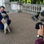 Filming with Pippy for the Centenary of The House of Windsor on NTV. 12 July 2017