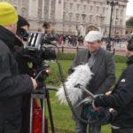 Filming for an ARTE documentary - Buckingham Palace 2012